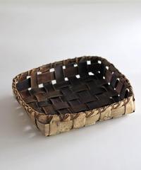 沢胡桃の置きかご 籠 (中型) 平たいデザイン 小物入れ