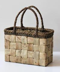 横幅24cm 3cm幅広ヒゴ 沢胡桃のかごバッグ   (クルミ/くるみ/籠)  オズのかごバッグ