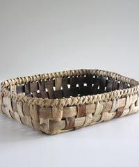沢胡桃の置きかご 籠 (大) 平たいデザイン 小物入れ