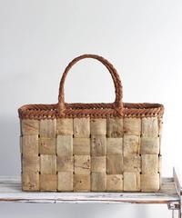 横幅37cm フトヒゴ編み 沢胡桃と山葡萄のかごバッグ   (クルミ/くるみ/籠)  オズのかごバッグ