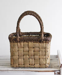 横幅20cm 中フト編み 沢胡桃のかごバッグ   (クルミ/くるみ/籠)  オズのかごバッグ