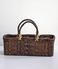 横幅37cm 横長 沢胡桃のかごバッグ   (クルミ/くるみ/籠)  オズのかごバッグ