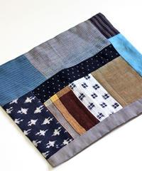 古布襤褸×柿渋鉄媒染 リメイクのランチョンマット/籠掛け布