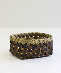 沢胡桃の置きかご 籠 (小) 裏皮 小物入れ 平織り