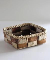 沢胡桃の置きかご 籠 (中型) 表皮×裏皮 フト編み 小物入れ