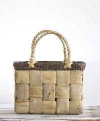 横幅25cm フト編み 沢胡桃のかごバッグ   (クルミ/くるみ/籠)  オズのかごバッグ