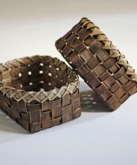 2個組 胡桃の整理かご 籠(小) (クルミ/沢くるみ)  小物入れ 暮らしの籠  生活雑貨