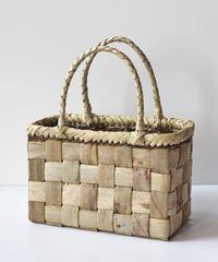 横幅24cm 少し小さ目 沢胡桃のかごバッグ   (クルミ/くるみ/籠)  オズのかごバッグ