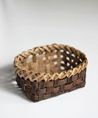 沢胡桃の置きかご 籠 (小) 裏皮 小物入れ 平織り  定番品 G