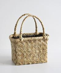 横幅20cm 網代編み 表皮 沢胡桃のかごバッグ   (クルミ/くるみ/籠)