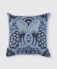 CUSHION COVER:BIRD / MATIN BLUE