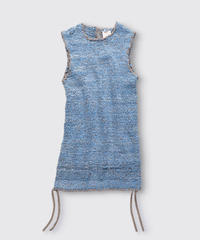 BIAS TAPE KNIT GILLET / MATIN BLUE