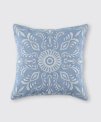 CUSHION COVER:FLOWER / MATIN BLUE