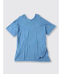ORGANIC COTTON JERSEY U/Vneck T-SHIRT / MATIN BLUE
