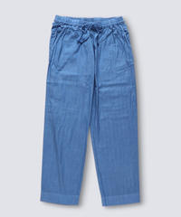 COTTON STRIPE DOBBY PANTS / NUIT BLUE