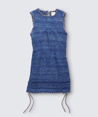 BIAS TAPE KNIT GILLET / NUIT BLUE