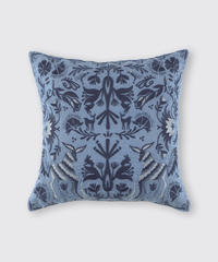 CUSHION COVER:ANIMAL / MATIN BLUE