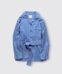 COTTON STRIPE DOBBY SHIRT JACKET / MATIN BLUE