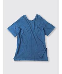 ORGANIC COTTON JERSEY U/Vneck T-SHIRT / NUIT BLUE
