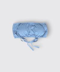 ORGANIC COTTON JERSEY TUBE TOP / MATIN BLUE