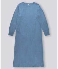 RANDOM WAFFLE LONG DRESS / NUIT BLUE