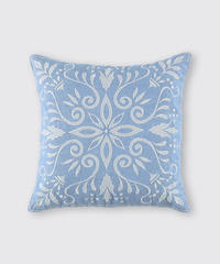CUSHION COVER:LEAF / MATIN BLUE