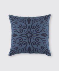 CUSHION COVER:FLOWER / NUIT BLUE