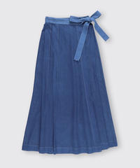 SEE-THROUGH WRAP SKIRT / NUIT BLUE