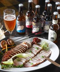kurabe シェフ特製 スモークチキンとパンチェッタ セット(1〜2人前)  peccary beer  8本入り(4種×2本)