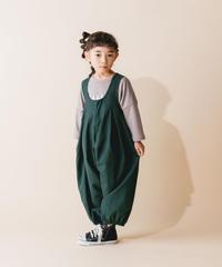【 nunuforme 2019AW 】nf12-412-012 ビッグパンツサロペット / Green  / 大人