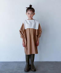 【 folk made 2020SS 】#13 sailor collar blouse / beige x white