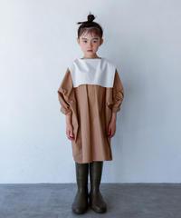 【 folk made 2020SS 】#13 sailor collar blouse / beige x white / LL(140-155)