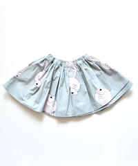 【 franky grow 2019AW 】19FWBT-235 TOTAL HANDLE AIRY SKIRT / GRAY-L.PINK RABBIT