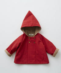 【 eLfinFolk 2019AW 】elf-192F22 elf coat / red / 110 - 130cm