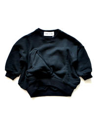 【 UNIONINI 2019AW 】 19AW-TR-020 ◯△ sweat shirt / black / 2 - 10Y