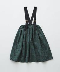 【 eLfinFolk 2019AW 】elf-192F08 ALfaFolk emblem print skirt / green / 90, 110, 130cm
