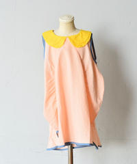 【 franky grow 2019SS 】OP-133 CLIONE DRESS DYED / PINK*YELLOW / S-L