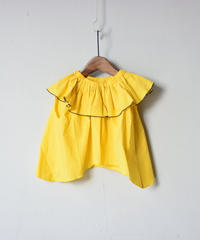 【 folk made 2020SS 】#22 frida-pullover / yellow / LL(140-155)