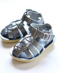 """【 Saltwater Sandals 20SS】 海でも履けるソルトウォーターサンダル  """"Shark Premium""""  / シルバー / 16 - 19cm"""