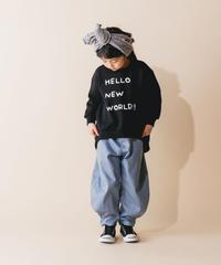 【 nunuforme 2019AW 】nf12-618-005 ヘムタックカーブパンツ / Blue / 大人