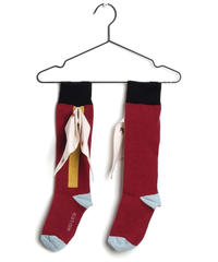 【 WOLF & RITA 2019SS 】LONG SOCKS BOW / BOATS AND ROADS