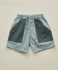 【 eLfinFolk 2020SS 】elf-201F30 typwriter shorts / sky blue / 140-150cm