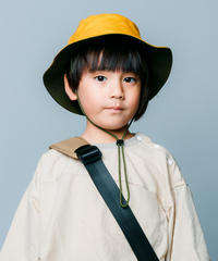 【 nunuforme 2020SS 】バイカラーアウトドアハット [nf11-boushi-001] / Yellow×Khaki / 54cm