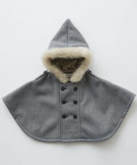 【 eLfinFolk 2019AW 】elf-192F28 freece baby mantle / gray / free (80-100cm)
