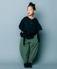 【 nunuforme 2020SS 】ヘムタックカーブパンツ [nf13-618-088] / Khaki / 155cm - F(レディース)
