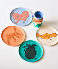 【 Bobo Choses 2020SS 】12070003A Dance Romance Bamboo Plates Pack of 4