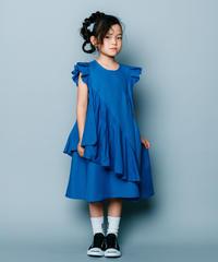 【 nunuforme 2020SS 】スクランブルワンピース [nf13-421-013]  / Blue / 155cm , F(レディース)