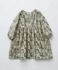 【 eLfinFolk 2019AW 】elf-192F05 ALfaFolk emblem print dress / oatmeal / 110 - 130cm