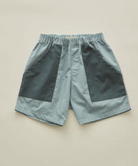 【 eLfinFolk 2020SS 】elf-201F28 typwriter shorts / sky blue / 80-100cm