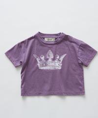 【 eLfinFolk 2019SS 】elf-191J01 crown T-shirts / purple